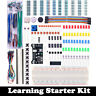 Electronic Component Starter Kit Breadboard LED Buzzer Resistor Transistor