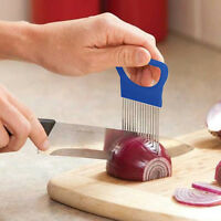 Easy Onion Holder Slicer VegetableTools Tomato Cutter Stainless Steel Kitchen*v*