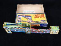 Russische Blechbahn Blechspielzeug von ca.1960 im Originalkarton / Technofix kob