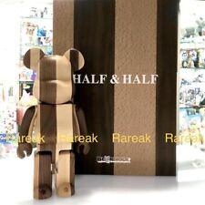 Medicom Be@rbrick Karimoku Half & Half Wood 400% Vertical wooden bearbrick