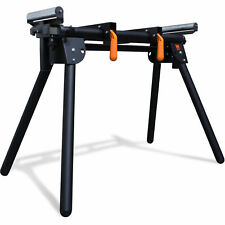 Miter Saw Stand Powder-coated Steel Height Adjustable Rollers 750 lb Capacity