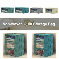 Foldable Storage Bag Clothes Blanket Quilt Closet Sweater Box Organizer Pou V5Y8