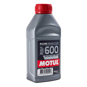 MOTUL RBF 600 RACING BRAKE FLUID 0.5L 500ML DOT 4 FULLY SYNTHETIC RBF600