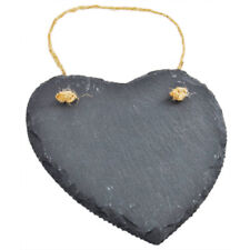 Heart Shaped Slate Message Board - 15cm, We Love, Brand New