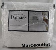 Charter Club Damask Designs Diamond Dot Cotton KING Duvet & Shams White