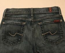 "women's USA 7 For All Mankind Distress Jeans-Embroidered Pockets-size 24"" [1135]"