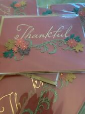 Papyrus Greeting Card - Thanksgiving . New.    Glitter Card