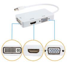 3 en 1 DisplayPort Thunderbolt a DVI VGA HDMI Adaptador Para Apple MacBook iMac