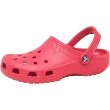 Sandali e scarpe Crocs rossa per il mare da uomo
