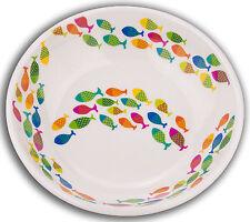 TarHong School of Fish Saucer Melamine Pet Bowl