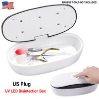 UV LED Sterilizer Disinfection Box for Nail Tools Makeup Brush Cleaning Tool US