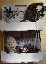 Wall Shelf White Kitchen Bathroom Decorative Wooden Cottage Vintage Shabby Chic