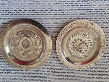 2 coupelles en laiton style oriental