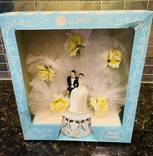 Vintage Coast Hand Painted Wedding Cake Topper NOS in box!!