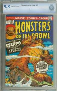 MONSTERS ON THE PROWL #27 CBCS 9.8 WHITE PAGES
