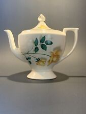 Vintage Teapot Yellow Roses, Gold Trim and Finial Cottagecore Farmhouse Country