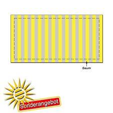 TOP Sonderangebot Sonnensegel weiss 265x140cm 20 Laufhaken Panamabindung Oxford