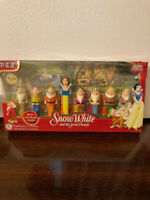 Disney Snow White and Seven Dwarfs Pez Dispensers With Candy New In Box