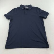 New listing Calvin Klein Polo Shirt Adult Small Blue Spell Out Casual CK Rugby Mens