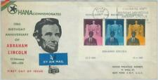 79101 - GHANA - Postal History - S/S on FDC COVER  1959 -  Abraham Lincoln