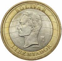 Venezuela - Münze - 1 Bolivar 2007 - hohe Ziffer 1 - Bimetall