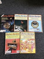 Vintage 1977 & 1779 Stereo Review Magazines Lot Of 5