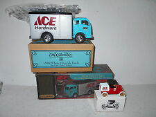 Ertl ACE HARDWARE 1/32 1949 White Tilt Cab Truck & 1/43 Scale 1918 Ford Runabout