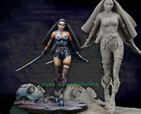 Unassambled 1/24 75MM Ancient Woman Warrior Figure Model Unpainted Garage Kits