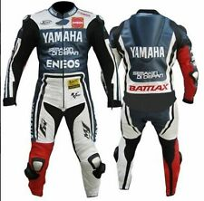 YAMAHA Motorcycle Racing Leather Suit-MotoGp-CE Approved Protectors