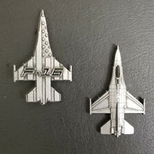 """F-16 """"Viper"""" Fighting Falcon Military Aircraft Shaped Challenge Coin"""