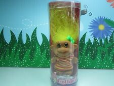 """Girl In Striped Dress - 3"""" Trollkins Troll Doll - New In Container - Very Rare"""