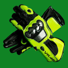 New Valentino Rossi VR46 Motorbike Racing Gloves Leather Protective Gloves