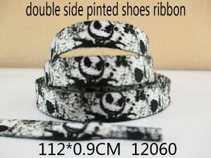 1 PAIR OF JACK SKELLINGTON NIGHTMARE BEFORE CHRISTMAS DOUBLE SIDED SHOE LACES