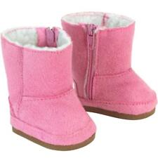 Pink Suede Hug boots  Fits 18 inch American Girl Dolls