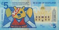 Bank of Scotland 2015 Polymer £5 S/N PUDSEY34 ONLY 50 Printed UNC V.V Rare !