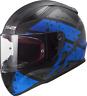 LS2 FF353 Rapid Completo Oro Acu Casco de Moto Deadbolt Azul Mate