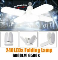E27 LED Garage Light Bulb Deformable Ceiling Fixture 60W Bright Workshop Lamp