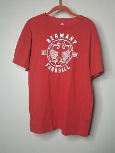 Mens M Adidas Germany Fussball Soccer Linear Icon T Shirt