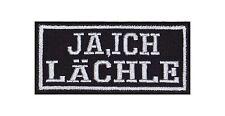 Ja Ich Lächle Patch Aufnäher Badge Biker Heavy Rocker Bügelbild Kutte Stick