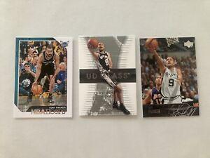 Lot De 3 Cartes NBA Tony Parker San Antonio Spurs, Charlotte Hornets.