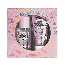VICTORIAS SECRET PINK 24K COCONUT GIFT SET Fragrance Mist Lotion 2 Piece New