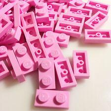 75+ NEW LEGO Light Purple (Pink) 1x2 Plates (ID 3023) Friends Simpsons etc.
