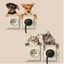 Room Switch Sticker Dogs Cartoon Wall Switch Stickers Sticker Living Wall Decal