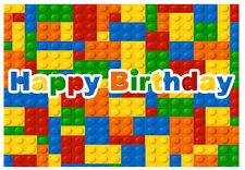 "Lego Building Block Base Edible Edible image Cake topper decoration-7.5""x10"""