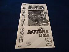 Daytona USA Sega Saturn Instruction Manual Booklet ONLY