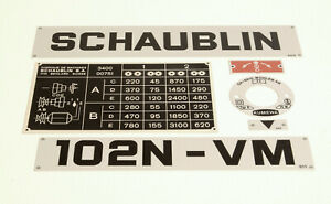 Set of plates for Schaublin 102N-VM Lathe