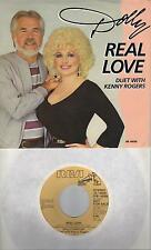 DOLLY PARTON  Real Love  rare promo 45 with PicSleeve  KENNY ROGERS