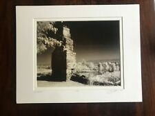 Infrared Photo of Monticello Chimney - Matted 8x10 Black & White Print Signed