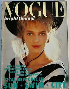 1986 Uma Thurman Paul Smith Vogue 80s vintage magazine