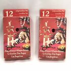 2 Sets Vintage Swedish Party Chimes & Angel Chimes Double Set Christmas Candle